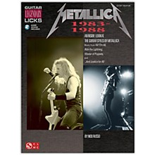 Cherry Lane Metallica Guitar Legendary Licks 1983-1988 Book with CD