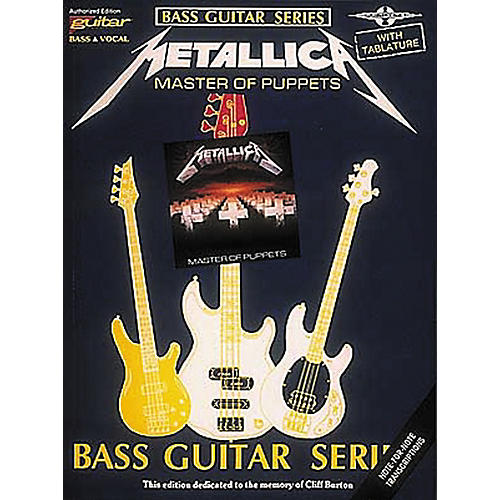 Hal Leonard Metallica Master of Puppets Bass Guitar Tab Songbook