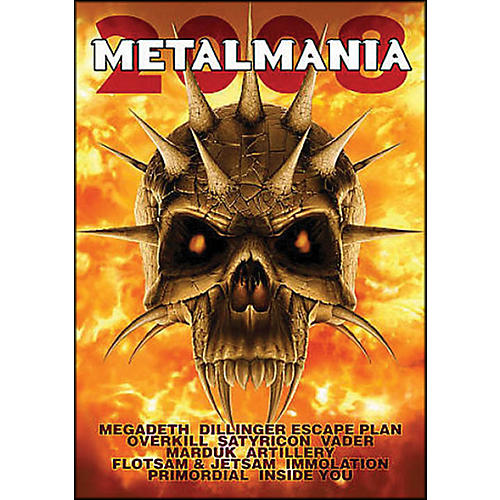 Hal Leonard Metalmania 2008 Live Concert DVD with Megadeth Overkill Rimordial And More-thumbnail