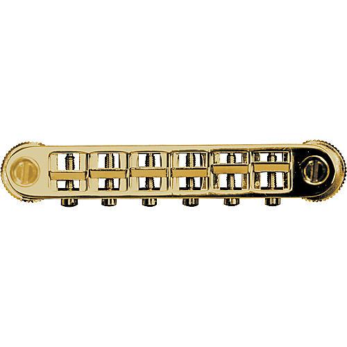 TonePros Metric Locking Tune-O-Matic Bridge (large posts) Gold