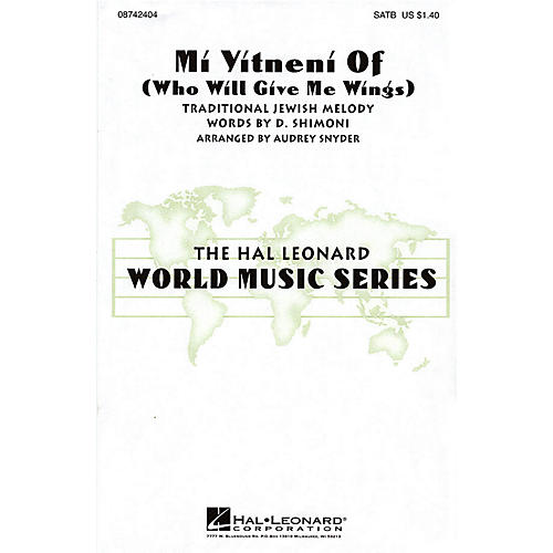 Hal Leonard Mi Yitneni Of (Who Will Give Me Wings) SATB arranged by Audrey Snyder