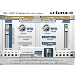 Antares Microphone Mod EFX VST/ AU/ RTAS Software Download