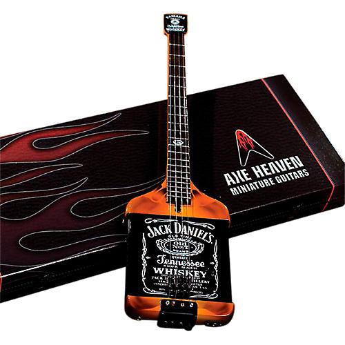 Axe Heaven Michael Anthony Jack Daniels Bass Miniature Guitar Replica Collectible-thumbnail