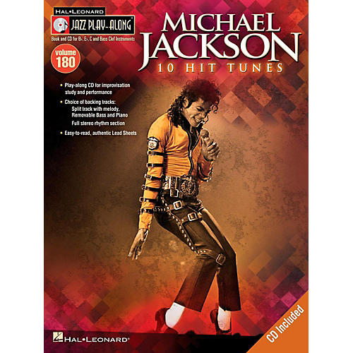 Hal Leonard Michael Jackson - Jazz Play-Along Volume 180 Book/CD-thumbnail