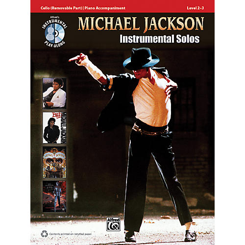 Alfred Michael Jackson Instrumental Solos for Strings Cello Book & CD