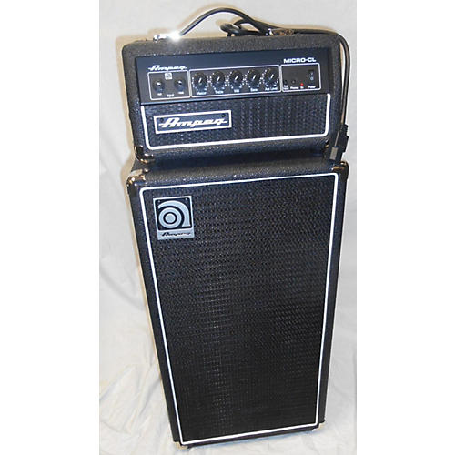 used ampeg micro cl micro stack 100w 2x10 bass combo amp guitar center. Black Bedroom Furniture Sets. Home Design Ideas