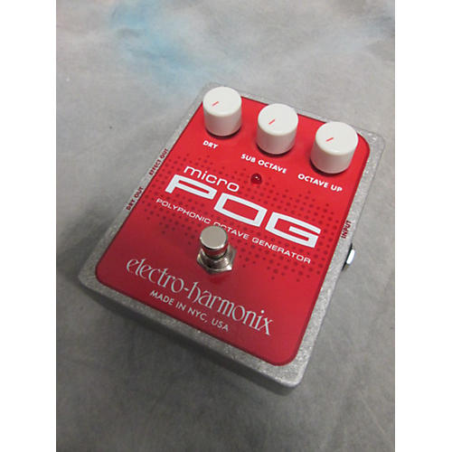 Electro-Harmonix Micro Pog Polyphonic Octave Generator Effect Pedal-thumbnail