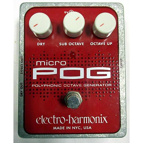 Electro-Harmonix Micro Pog Polyphonic Octave Generator Effect Pedal-thumbnail