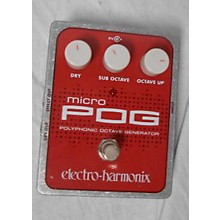 Electro-Harmonix Micro Pog Polyphonic Octave Generator Effect Pedal
