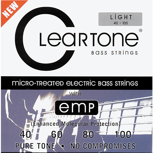Cleartone Micro-Treated Light Electric Bass Guitar Strings