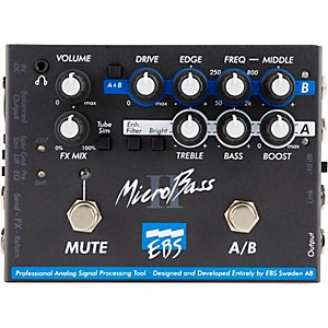 EBS MicroBass II Bass Preamp Pedal by EBS