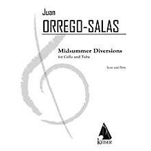 Lauren Keiser Music Publishing Midsummer Diversion, Op. 99 (for Tuba and Cello) LKM Music Series Composed by Juan Orrego-Salas