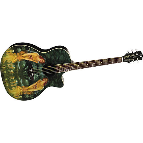 Luna Guitars Midsummers Night's Eve Grand Auditorium Acoustic-Electric Guitar