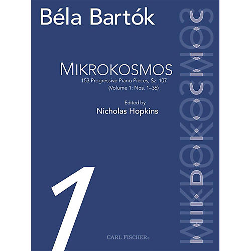 Carl Fischer Mikrokosmos - 153 Progressive Piano Pieces Sz. 107 - Vol. I (1-36)