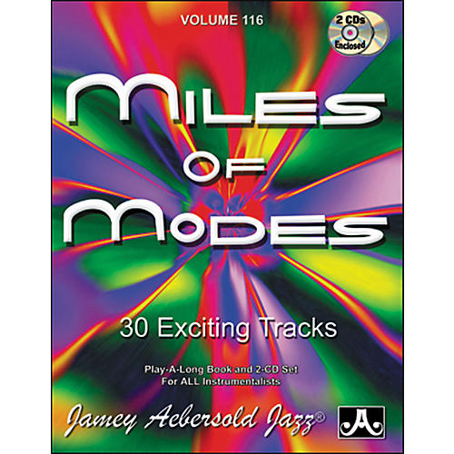 Jamey Aebersold Miles of Modes Play-Along Book and CDs-thumbnail