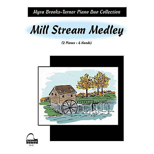 SCHAUM Mill Stream Medley (2 Pianos) Educational Piano Series Softcover