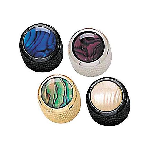 Q Parts Mini-Dome Knob Single Black Purple Abalone
