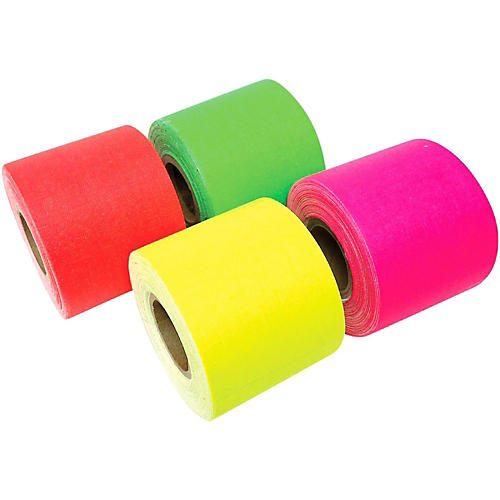 American Recorder Technologies Mini Roll Gaffers Tape 2 In x 8 Yards - Green, Yellow, Pink, Orange-thumbnail