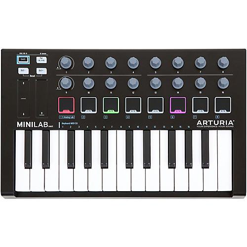 Arturia MiniLab Black Edition Keyboard Controller and Software Bundle