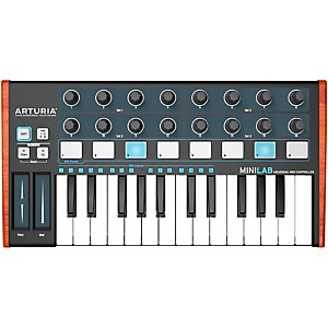 Arturia MiniLab Mini Hybrid Keyboard Controller Black Edition by Arturia