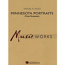 Hal Leonard Minnesota Portraits - Complete Set (Three Movements) Concert Band Level 3-5 Composed by Samuel R. Hazo