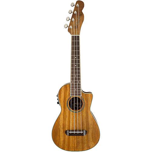 Fender Mino'Aka Koa Cutaway Concert Acoustic-Electric Ukulele-thumbnail