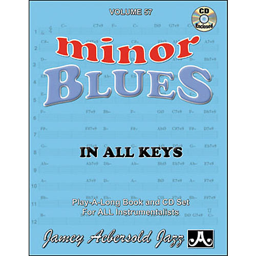 Jamey Aebersold Minor Blues In All Keys Play-Along Book and CD-thumbnail