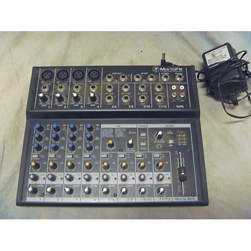 used mackie mix12fx powered mixer guitar center. Black Bedroom Furniture Sets. Home Design Ideas