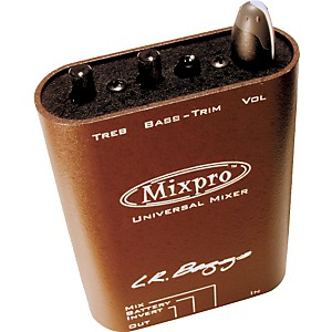 LR Baggs Mixpro Universal Belt Clip Acoustic Guitar Mixer and Preamp by LR Baggs