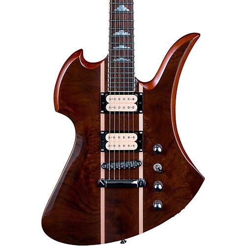 b c rich mockingbird neck through with walnut burl top electric guitar gloss natural guitar. Black Bedroom Furniture Sets. Home Design Ideas