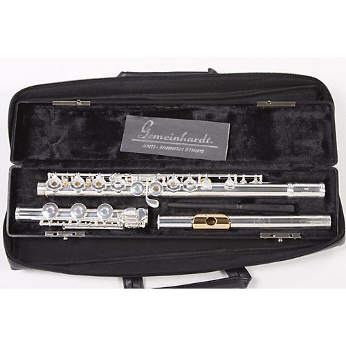Gemeinhardt Model 3SB Flute Outfit Offset G, B Foot, Gold Lip Plate 886830699290