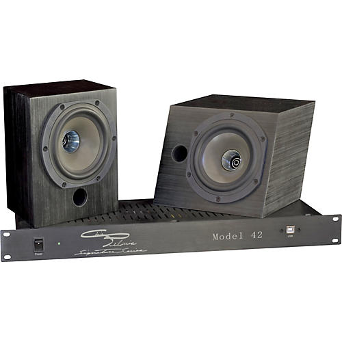 Pelonis Sound and Acoustics Model 42 Two-Way Compact Active Studio Monitoring System-thumbnail