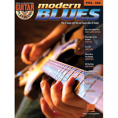 Hal Leonard Modern Blues - Guitar Play-Along Volume 166 Book/CD-thumbnail