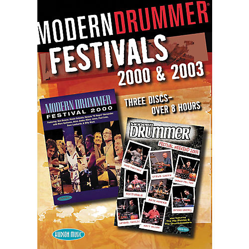Hudson Music Modern Drummer Festivals 2000 and 2003 3-DVD Set-thumbnail