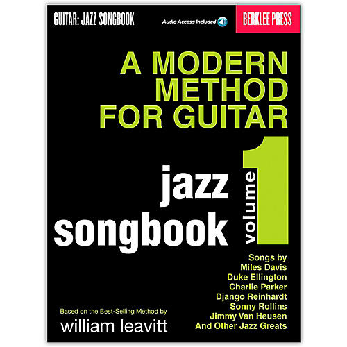 Berklee Press Modern Method for Guitar SongBook/Online Audio: Jazz Book/Online Audio-thumbnail