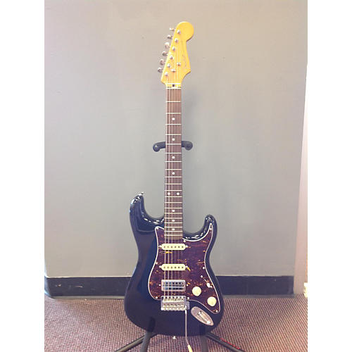 Fender Modern Player Short Scale Stratocaster HSS Black Solid Body Electric Guitar