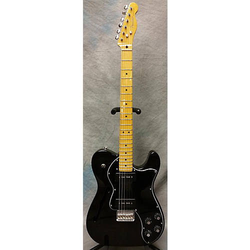 Fender Modern Player Thinline Telecaster Deluxe Trans Black Hollow Body Electric Guitar