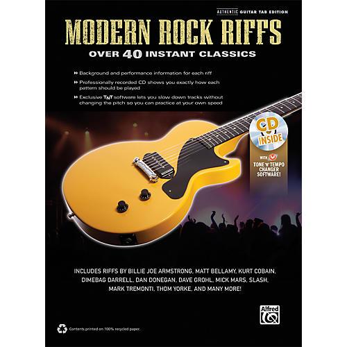 Alfred Modern Rock Riffs Guitar Book & CD