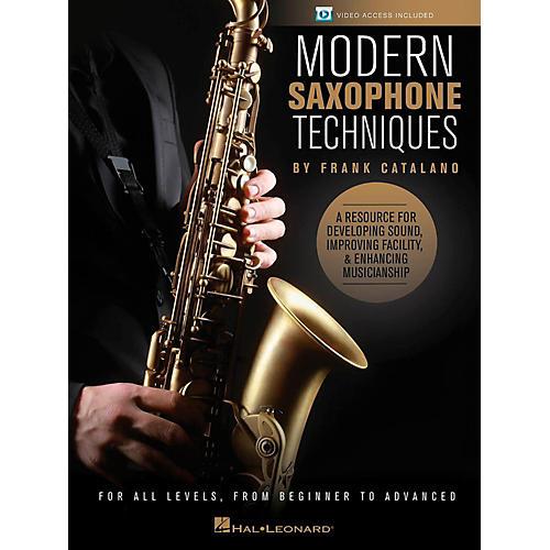Hal Leonard Modern Saxophone Techniques Book/Online Video
