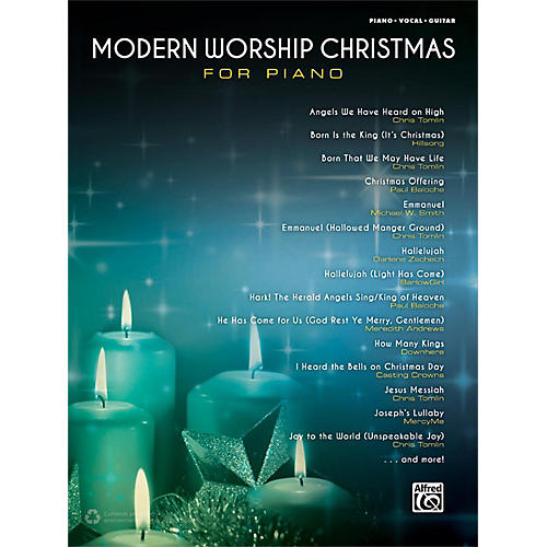 Alfred Modern Worship Christmas for Piano Songbook P/V/G Edition-thumbnail