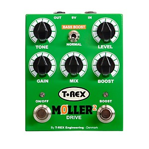 T-Rex Engineering Moller 2 Overdrive Pedal with Clean Boost by T Rex Engineering