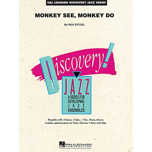 Hal Leonard Monkey See, Monkey Do Jazz Band Level 1.5 Composed by Rick Stitzel
