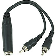 "Hosa Mono 1/4"" (Female) - 2 RCA (Male) Y Cable"