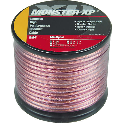 Monster Cable Monster XP Clear Jacket Compact Speaker Cable MKII Mini Spool 30 ft.