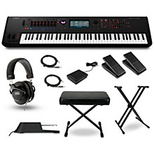 Yamaha Montage 7 76-Key Synthesizer with Stand, Pedals, Deluxe Keyboard Bench, Cables and Headphones