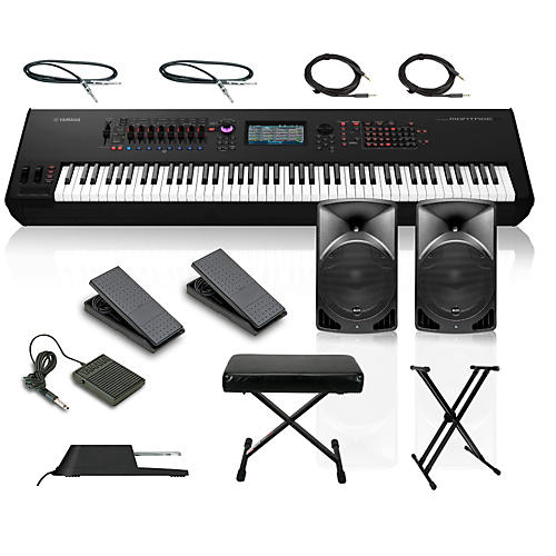 yamaha montage 8 88 key synthesizer with powered speakers. Black Bedroom Furniture Sets. Home Design Ideas