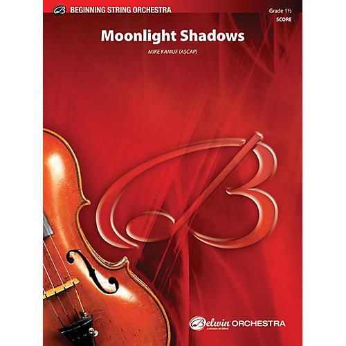 Alfred Moonlight Shadows String Orchestra Grade 1.5