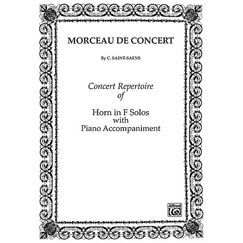 Alfred Morceau de Concert for French Horn By Camille Saint-Sa«ns Book-thumbnail