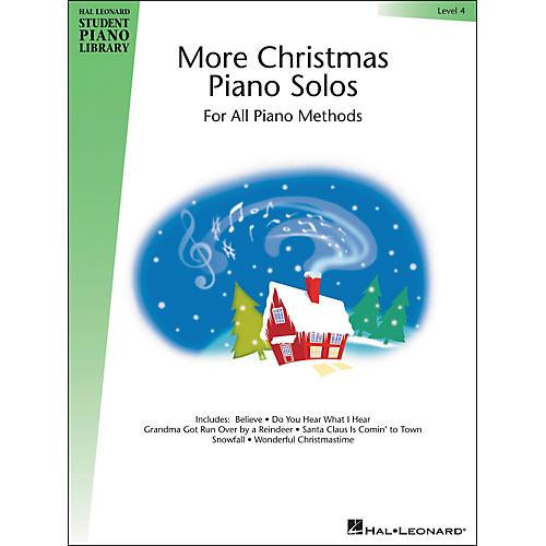 Hal Leonard More Christmas Piano Solos Book 4 Hal Leonard Student Piano Library-thumbnail