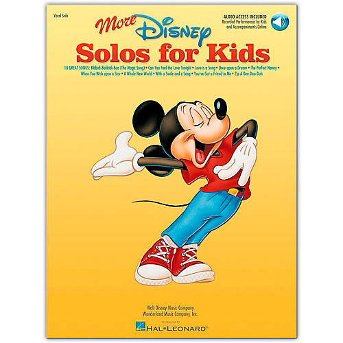 Hal Leonard More Disney Solos for Kids (Book/Online Audio)-thumbnail